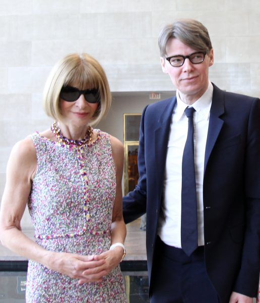 "NEW YORK, NY - MAY 04: Anna Wintour and Andrew Bolton attend ""China: Through The Looking Glass"" Costume Institute Benefit Gala - Press Preview at Metropolitan Museum of Art on May 4, 2015 in New York City. (Photo by Bennett Raglin/Getty Images)"