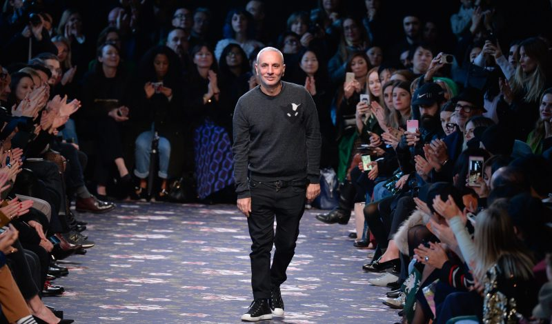 PARIS, FRANCE - MARCH 02:  Designer Alessandro Dell'Acqua acknowledges the applause of the public after the Rochas show as part of the Paris Fashion Week Womenswear Fall/Winter 2016/2017 on March 2, 2016 in Paris, France.  (Photo by Francois Durand/Getty Images)