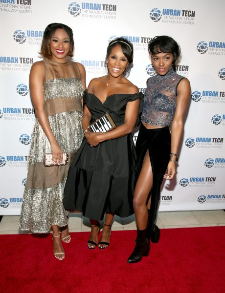 NEW YORK, NY - JUNE 14: (L-R) Alicia Quarles, June Ambrose and Elisa Johnson attend the 2016 National Urban Technology Center Gala Awards Dinner at Gustavino's on June 14, 2016 in New York City. (Photo by Paul Zimmerman/WireImage)