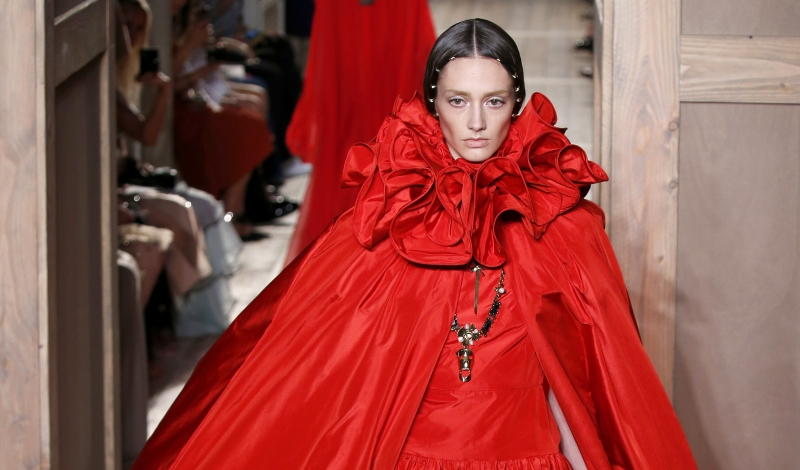 PARIS, FRANCE - JULY 6: A model walks the runway during the Valentino designed by Pier Paolo Piccioli & Maria Grazia Chiuri Haute Couture Fall/Winter 2016-2017 show as part of Paris Fashion Week on July 6, 2016 in Paris, France. (Photo by Estrop/Getty Images)