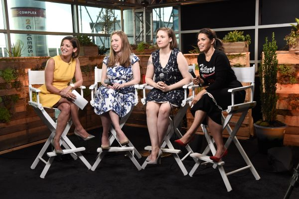 PHILADELPHIA, PA - JULY 26: Cindi Leive, Chelsea Clinton, Lena Dunham and America Ferrera attend the Glamour And Facebook Host Conversation With Cindi Leive, Chelsea Clinton, Lena Dunham, America Ferrera At The Democratic National Convention on July 26, 2016 in Philadelphia, Pennsylvania. (Photo by Nicholas Hunt/Getty Images for Glamour)