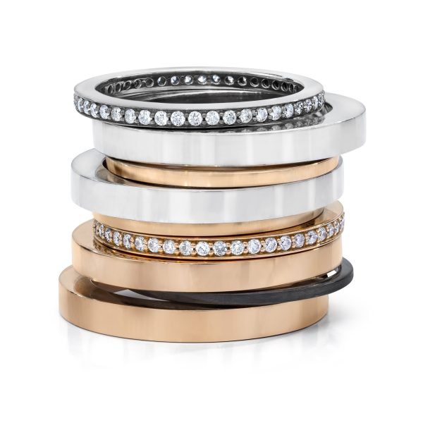 R-6,7,8 _ Stackable 18K Gold Rings