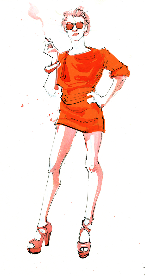 We Sent A Fashion Illustrator To Fire Island's Invasion of the Pines - Daily Front Row