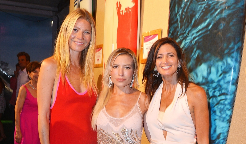 Gwyneth Paltrow, Tracy Anderson, Maria Baum==The 2016 Hamptons Paddle & Party for Pink Benefiting the Breast Cancer Research Foundation==Fairview on Mecox Bay, Bridgehampton, NY==August 06, 2016==© Patrick McMullan==Photo - Patrick McMullan/PMC== ==