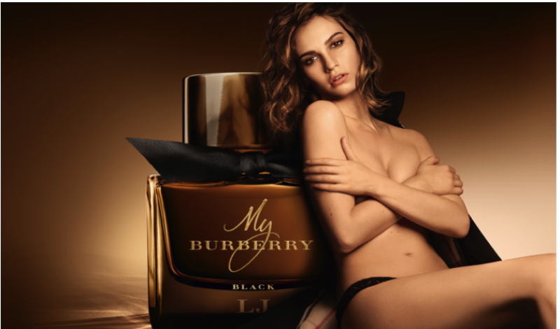 Lily James Fronts Burberry's My Burberry Black Campaign