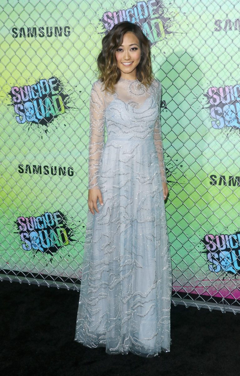 "NEW YORK, NY - AUGUST 01: Actress Karen Fukuhara attends the ""Suicide Squad"" world premiere at The Beacon Theatre on August 1, 2016 in New York City. (Photo by Jim Spellman/WireImage)"