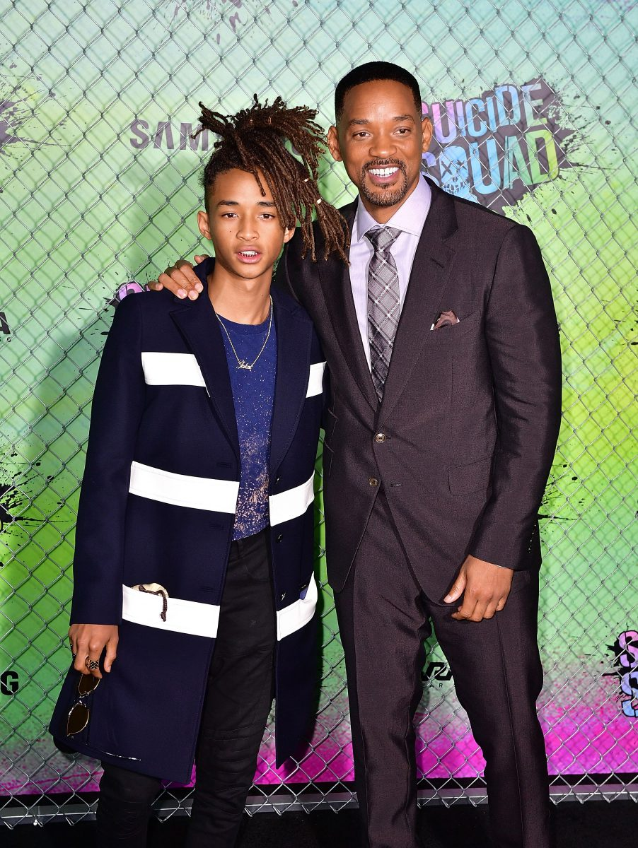"NEW YORK, NY - AUGUST 01: Jaden Smith and Will Smith attend the ""Suicide Squad"" premiere at The Beacon Theatre on August 1, 2016 in New York City. (Photo by James Devaney/WireImage)"