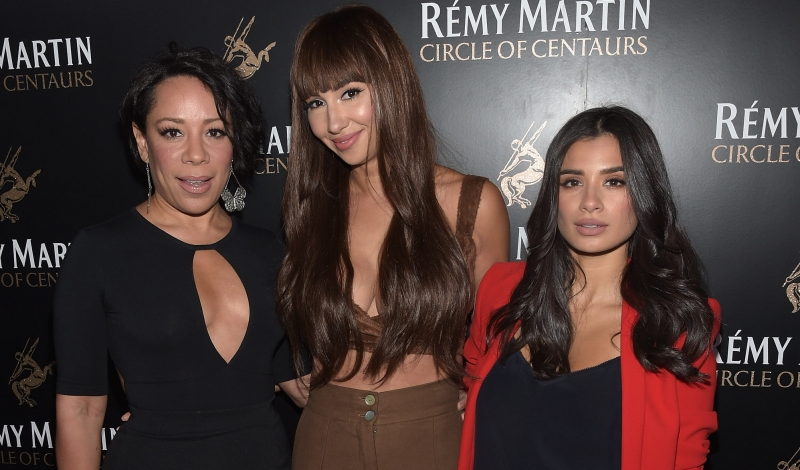 NEW YORK, NY - AUGUST 17:  (L-R): Actresses Selenis Leyva, Jackie Cruz, and Diane Guerrero, ttend the Remy Martin launch of The 2016 Circle Of Centaurs with Jackie Cruz at The Bowery Hotel on August 17, 2016 in New York City.  (Photo by Jason Kempin/Getty Images for Remy Martin)