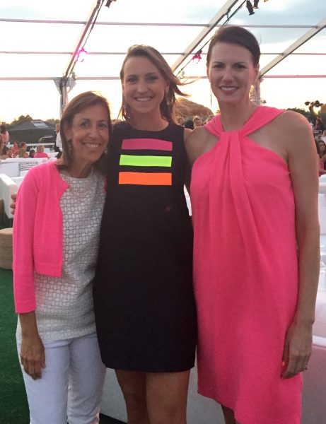 Jen Bruno and friends at Paddle & Party for Pink 2015