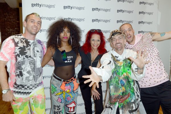 NEW YORK, NY - SEPTEMBER 13: Ben Copperwheat, Iris Bonner, Patricia Field, Scooter LaForge and Kyle Brincefield attend a Patricia Field gathering to discuss her art fashion collection at the Getty Images Pop Up Studio on September 13, 2016 in New York City. (Photo by Gustavo Caballero/Getty Images)