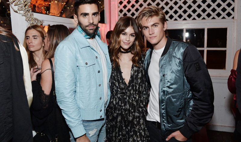 MALIBU, CA - SEPTEMBER 23:  Philip Picardi, Kaia Jordan Gerber and Presley Walker Gerber attend 14th Annual Teen Vogue Young Hollywood with American Eagle Outfitters on September 23, 2016 in Malibu, California.  (Photo by Stefanie Keenan/Getty Images for Teen Vogue)