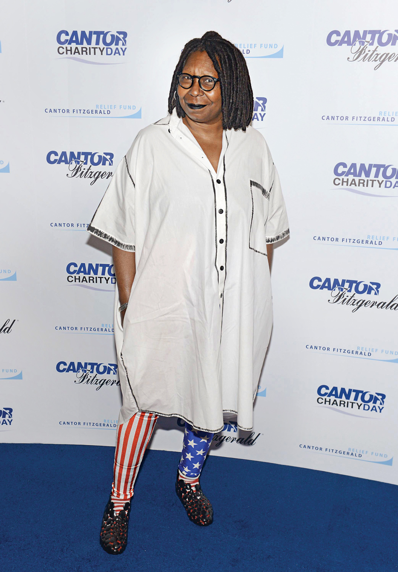 NEW YORK, NY - SEPTEMBER 11: Actress Whoopi Goldberg attends the annual Charity Day hosted by Cantor Fitzgerald and BGC at Cantor Fitzgerald on September 11, 2015 in New York City.  (Photo by Noam Galai/Getty Images for Cantor Fitzgerald)