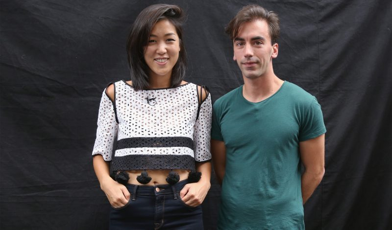 NEW YORK, NY - SEPTEMBER 12:  Fashion designers Laura Kim and Fernando Garcia pose backstage at the Monse fashion show during Spring 2016 MADE Fashion Week at Norwood Club on September 12, 2015 in New York City.  (Photo by Mireya Acierto/Getty Images)