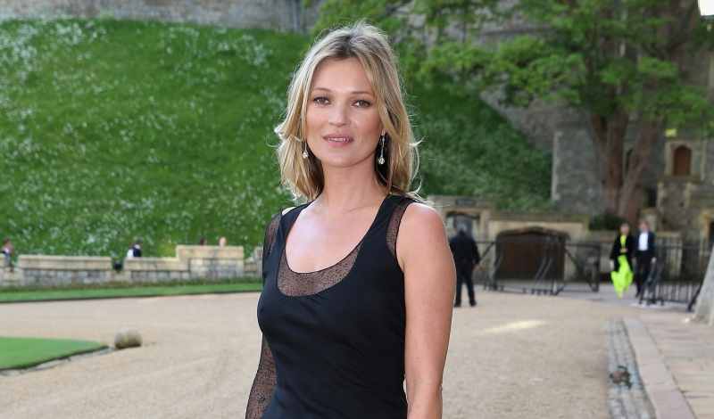 WINDSOR, ENGLAND - MAY 13:  Kate Moss arrives for a dinner to celebrate the work of The Royal Marsden hosted by the Duke of Cambridge at Windsor Castle on May 13, 2014 in Windsor, England.  (Photo by Chris Jackson/Getty Images)