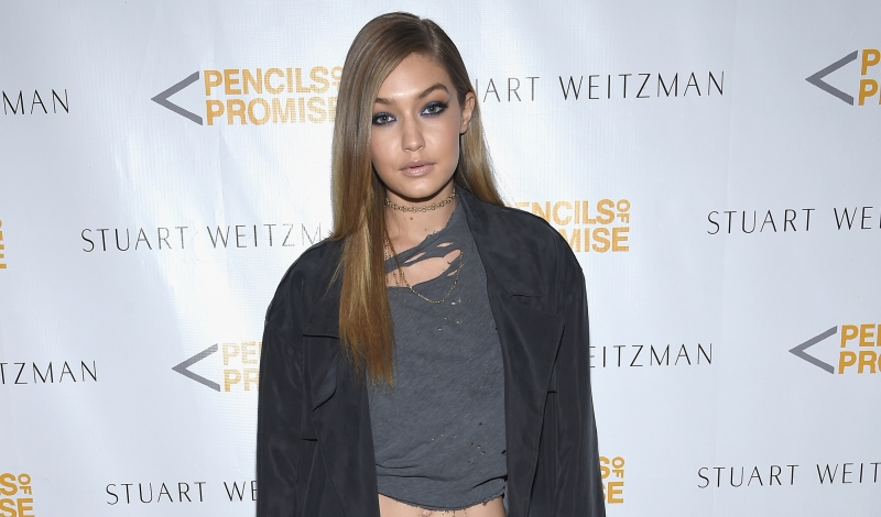 NEW YORK, NEW YORK - APRIL 11: Gigi Hadid attends as Stuart Weitzman launches its partnership with Pencils Of Promise at Sadelle's on April 11, 2016 in New York City.  (Photo by Dimitrios Kambouris/Getty Images for Stuart Weitzman)