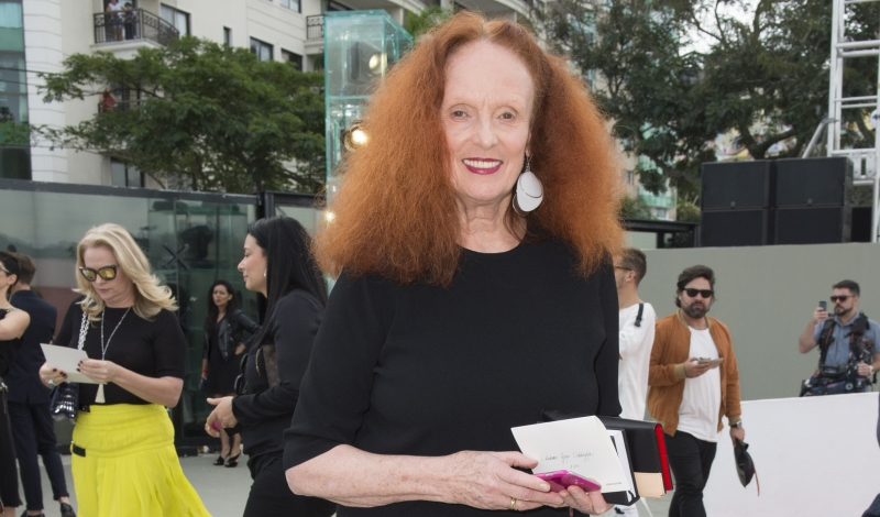 Grace Coddington attends Louis Vuitton 2017 Cruise Collection at MAC Niter on May 28, 2016 in Niteroi, Brazil.