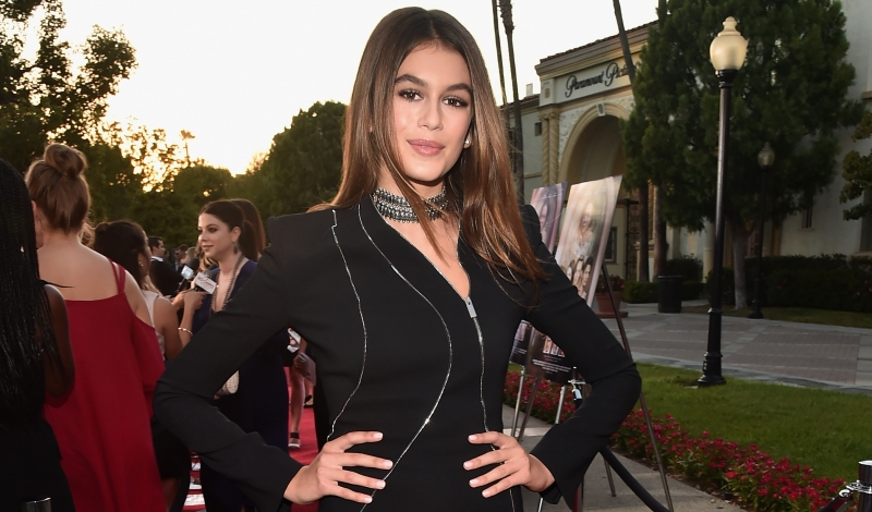 "HOLLYWOOD, CA - AUGUST 31:  Actress Kaia Gerber attends the premiere of Lifetime's ""Sister Cities"" at Paramount Theatre on August 31, 2016 in Hollywood, California.  (Photo by Alberto E. Rodriguez/Getty Images)"