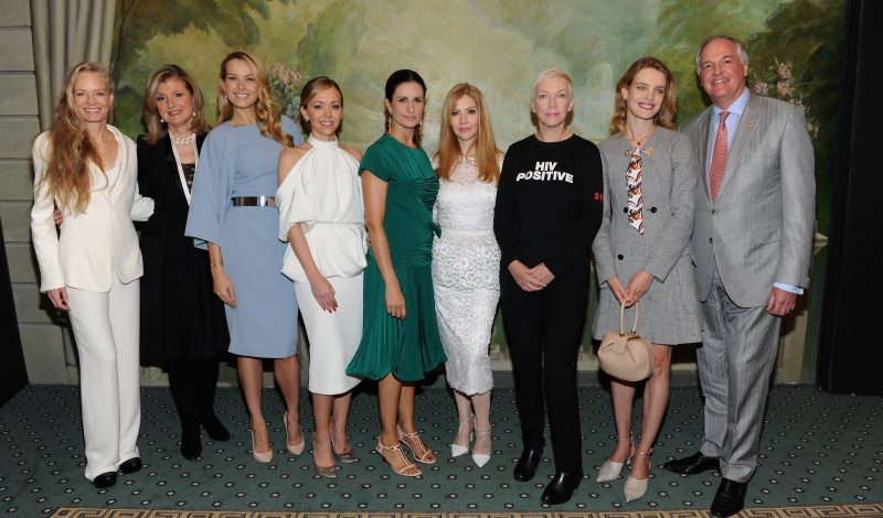 NEW YORK, NY - SEPTEMBER 21:  (L-R) Suzy Amis Cameron, Arianna Huffington, Petra Nemcova, Tamara Ralph, Livia Firth, Evie Evangelou, Annie Lennox and Natalia Vodianova attend Fashion 4 Development's 6th Annual Official First Ladies Luncheon at The Pierre Hotel on September 21, 2016 in New York City.  (Photo by Craig Barritt/Getty Images for Fashion 4 Development )