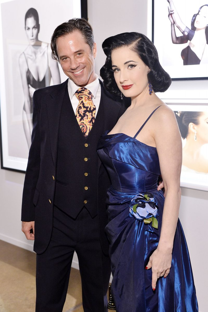 HOLLYWOOD, CA - OCTOBER 06: Bryan Rabin and Dita Von Teese attend PHOTO16 presented by Milk Studios Auction of Photography Works to Raise Funds for The AIDS Monument in West Hollywood at Milk Studios on October 6, 2016 in Hollywood, California. (Photo by Stefanie Keenan/WireImage)