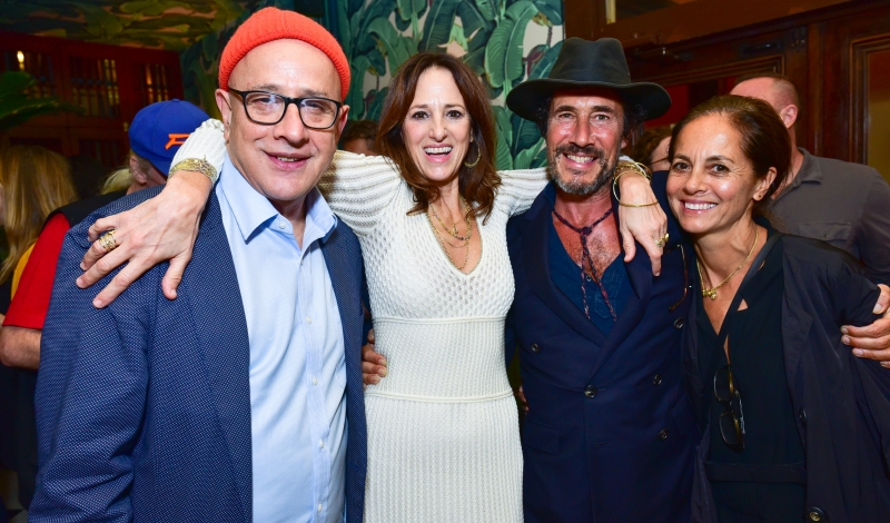 David Hershkovits, Robin Renzi, Mark Borthwick, Maria Cornejo== Me&Ro Celebrates 25th Anniversary at Indochine== Indochine, NY== October 20, 2016== ©Patrick McMullan== Photo - Sean Zanni/PMC== ==