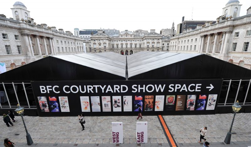 LONDON, ENGLAND - SEPTEMBER 20:  A general view of atmosphere at the London Fashion Weekend launch show sponsored by Vodafone on September 20, 2012 at Somerset House in London, United Kingdom.  (Photo by Gareth Cattermole/Getty Images for Vodafone)