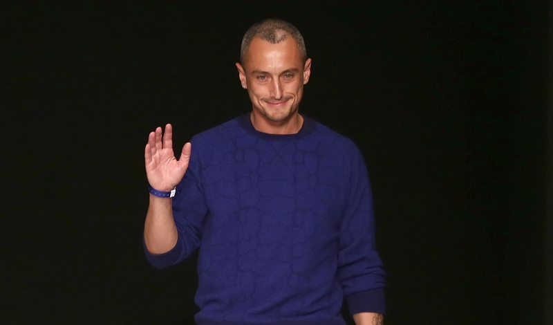 LONDON, ENGLAND - JUNE 16:  Designer Richard Nicol on the runway at the Richard Nicoll show during the London Collections: MEN SS14 at The Old Sorting Office on June 16, 2013 in London, England.  (Photo by Tim P. Whitby/Getty Images)
