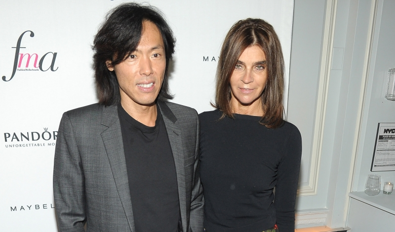 NEW YORK, NY - SEPTEMBER 06:  Creative Director at Harper's Bazaar Stephen Gan and editor-in-chief of CR Fashion Book Carine Roitfeld attend The Daily Front Row's Fashion Media Awards at Harlow on September 6, 2013 in New York City.  (Photo by Rommel Demano/Getty Images for The Daily Front Row)