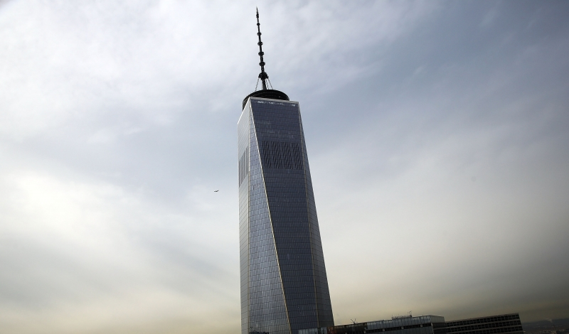 NEW YORK, NY - JANUARY 21:  Th Freedom Tower is is viewed from one of the top floors of the newly built Four Seasons private residences at 30 Park Place on January 21, 2015 in New York City. The building, which was built by Silverstein Properties, Inc. and designed by Robert A.M. Stern Architects, will be the tallest residential tower in downtown Manhattan when complete. An event to celebrate the final pour of structural concrete on the 82nd floor of the 926-foot tall building brought dozens of employees from both firms along with construction workers and members of the real estate community.  (Photo by Spencer Platt/Getty Images)