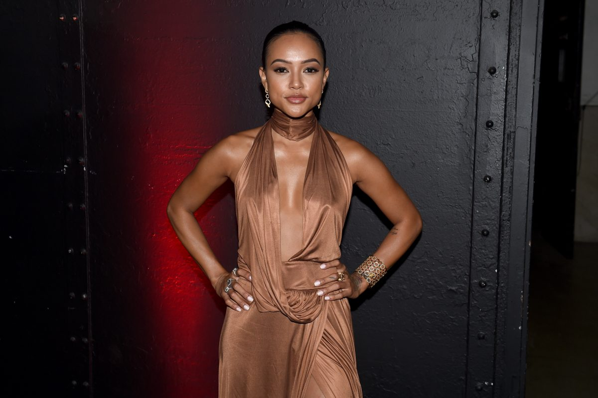 NEW YORK, NY - JUNE 09: Karrueche Tran attends the 7th Annual amfAR Inspiration Gala at Skylight at Moynihan Station on June 9, 2016 in New York City. (Photo by Nicholas Hunt/Getty Images)