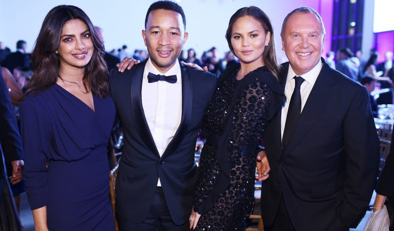 NEW YORK, NY - OCTOBER 17:  Priyanka Chopra, John Legend, Chrissy Teigen, and Michael Kors attend the God's Love We Deliver Golden Heart Awards on October 17, 2016 in New York City.  (Photo by Dimitrios Kambouris/Getty Images for Michael Kors)
