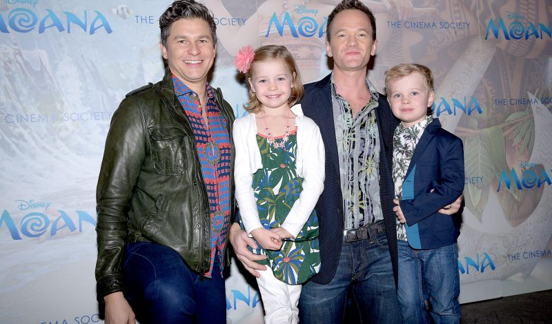 "David Burtka, Harper Grace Burtka-Harris, Neil Patrick Harris, Gideon Scott Burtka-Harris== Disney & The Cinema Society Host a Special Screening of ""Moana""== Metrograph, NYC== November 20, 2016== ©Patrick McMullan== Photo - Aurora Rose/PMC== =="