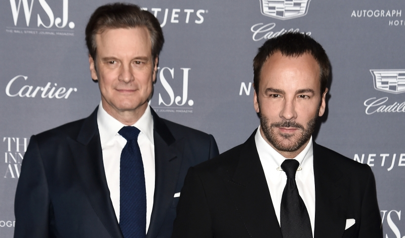 NEW YORK, NY - NOVEMBER 02:  Actor Colin Firth (L) and designer and director Tom Ford attend the WSJ Magazine 2016 Innovator Awards at Museum of Modern Art on November 2, 2016 in New York City.  (Photo by Nicholas Hunt/Getty Images for WSJ. Magazine Innovators Awards)