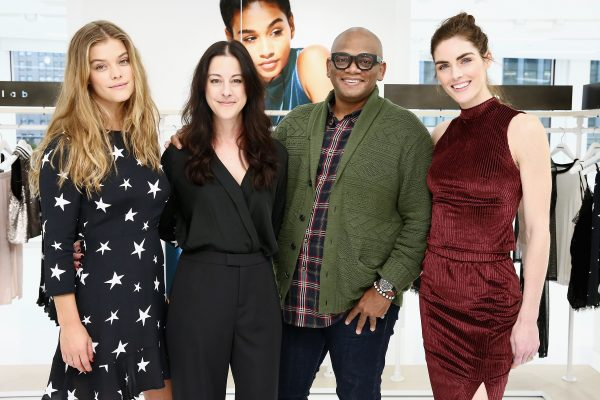 NEW YORK, NY - NOVEMBER 03: (L-R) Nina Agdal, Sofia Wacksman, Arthur Lewis and Hilary Rhoda pose for a photo for Kohl's launch of the k/lab Capsule on November 3, 2016 in New York City. (Photo by Astrid Stawiarz/Getty Images for Kohl's) *** Local Caption *** Nina Agdal;Sofia Wacksman;Arthur Lewis;Hilary Rhoda