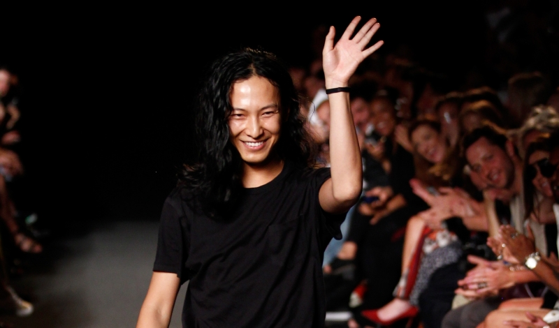 NEW YORK, NY - SEPTEMBER 06: Designer Alexander Wang appears on the runway at the Alexander Wang fashion show during Mercedes-Benz Fashion Week Spring 2015 at Pier 94 on September 6, 2014 in New York City.  (Photo by Peter Michael Dills/Getty Images)