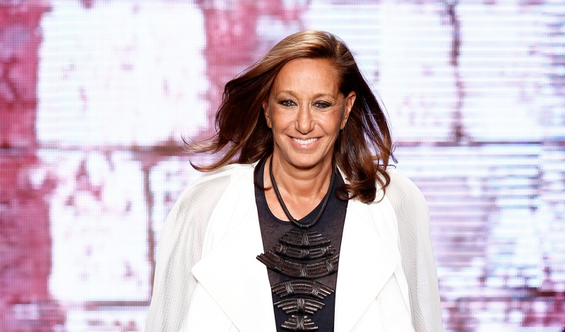 NEW YORK, NY - SEPTEMBER 07: Designer Donna Karan walks the runway at the DKNY Women's fashion show during Mercedes-Benz Fashion Week Spring 2015 on September 7, 2014 in New York City.  (Photo by Peter Michael Dills/Getty Images for Mercedes-Benz Fashion Week)