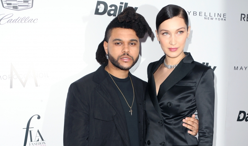 """WEST HOLLYWOOD, CA - MARCH 20: Singer The Weeknd (L) and model Bella Hadid attend the Daily Front Row """"Fashion Los Angeles Awards"""" at Sunset Tower Hotel on March 20, 2016 in West Hollywood, California.  (Photo by Frederick M. Brown/Getty Images)"""