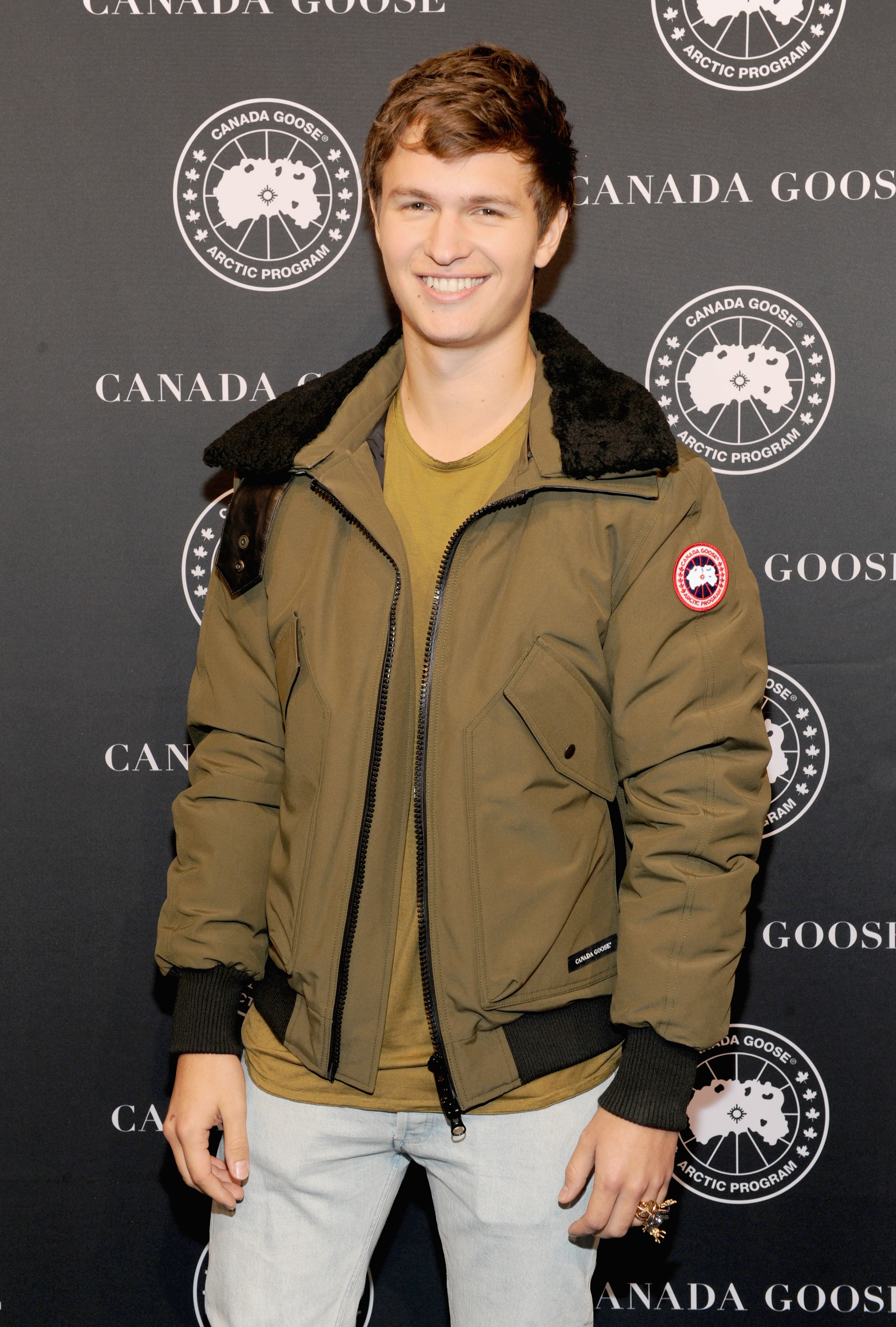 NEW YORK, NY - NOVEMBER 16: Actor Ansel Elgort attends the Canada Goose New York City Flagship Store opening on November 16, 2016 in New York City.