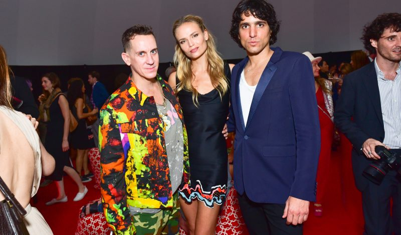 MIAMI BEACH, FL - NOVEMBER 29:  (L-R) Jeremy Scott, Natasha Poly and Sebastian Faena attend The Daily Front Row and Faena Art Celebrate the Launch of The Daily's Miami Edition, Featuring Act One at The Faena Art Dome on November 29, 2016 in Miami Beach, FL. (Photo by Sean Zanni/Patrick McMullan via Getty Images)
