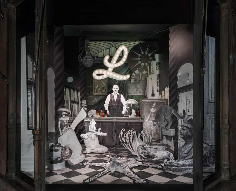 f4233e2d812 Christian Louboutin Unveils Four Surrealist Windows at Saks Fifth Avenue