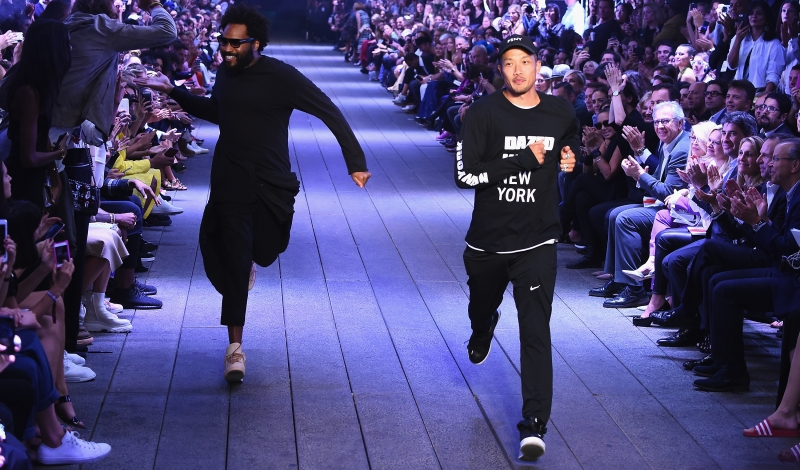 NEW YORK, NY - SEPTEMBER 12:  Designers Maxwell Osborne and Dao-Yi Chow rundown the runway at the DKNY Women fashion show during New York Fashion Week: The Shows September 2016 at the High Line on September 12, 2016 in New York City.  (Photo by Albert Urso/Getty Images for New York Fashion Week)