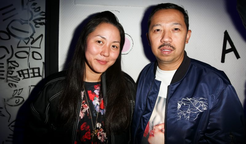 PARIS, FRANCE - OCTOBER 04:  Designers Carol Lim and Humberto Leon attend the MAC Cosmetics x Kenzo Aftershow Party as part of the Paris Fashion Week Womenswear Spring/Summer 2017 at Le Consulat on October 4, 2016 in Paris, France.  (Photo by Richard Bord/Getty Images)