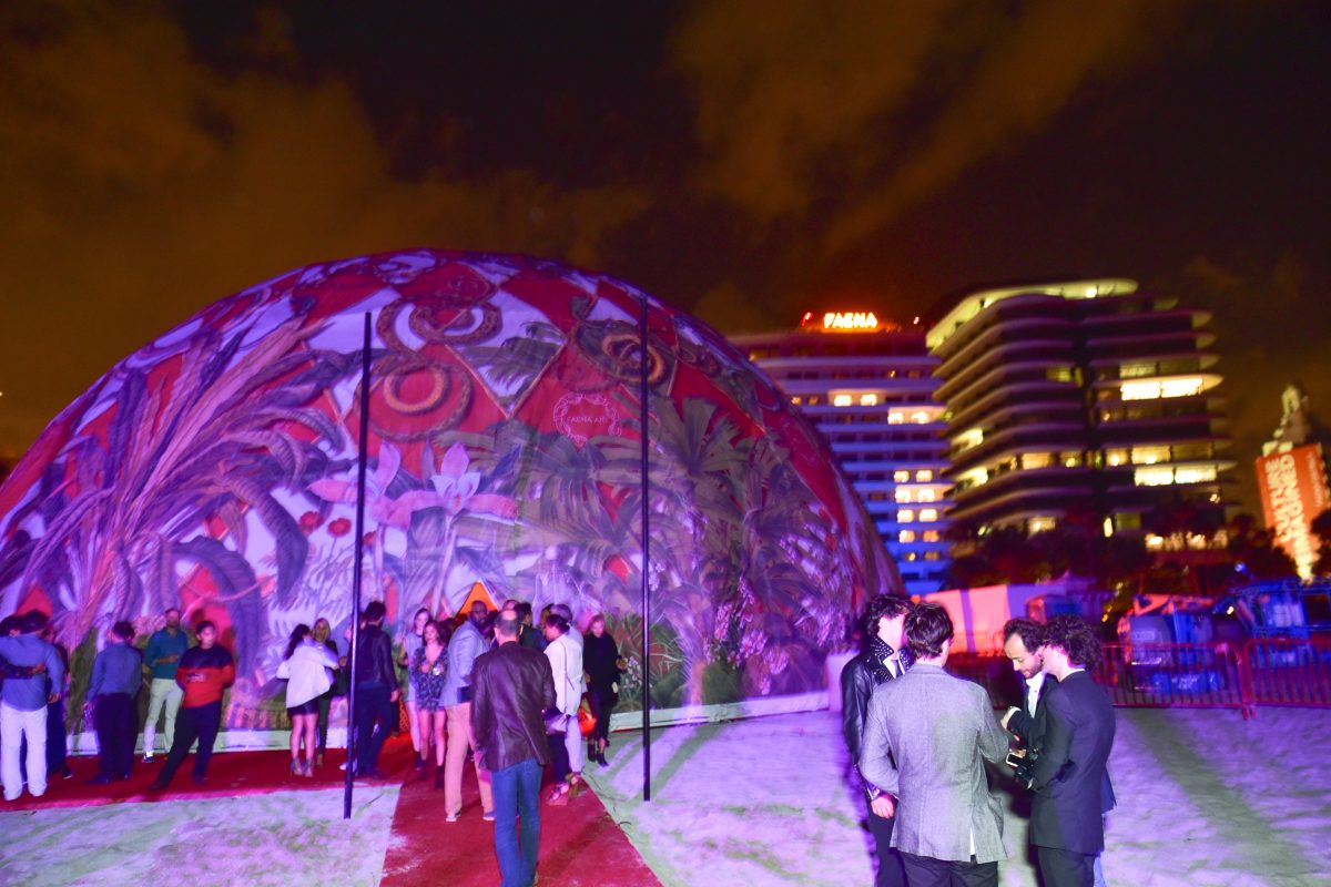 MIAMI BEACH, FL - NOVEMBER 29: Atmosphere at The Daily Front Row and Faena Art Celebrate the Launch of The Daily's Miami Edition, Featuring Act One at The Faena Art Dome on November 29, 2016 in Miami Beach, FL. (Photo by Sean Zanni/Patrick McMullan via Getty Images)