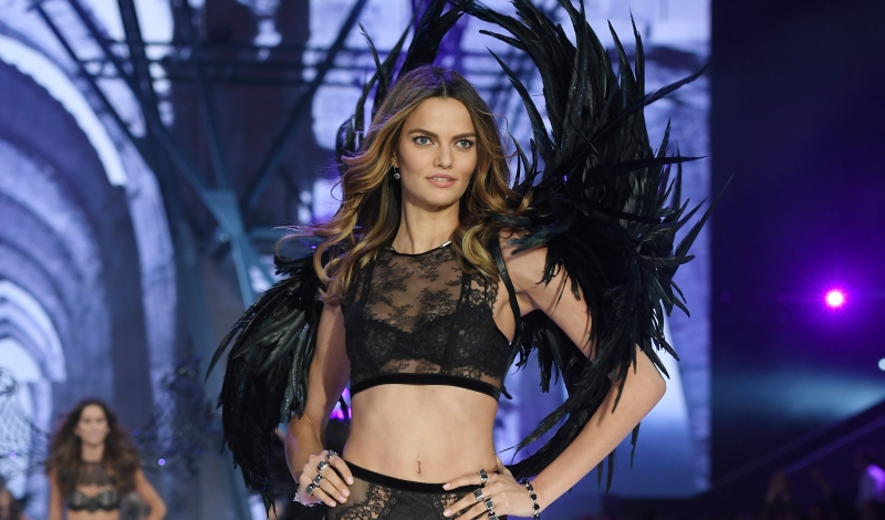PARIS, FRANCE - NOVEMBER 30:  Barbara Fialho walks the runway during the 2016 Victoria's Secret Fashion Show on November 30, 2016 in Paris, France.  (Photo by Dimitrios Kambouris/Getty Images for Victoria's Secret)