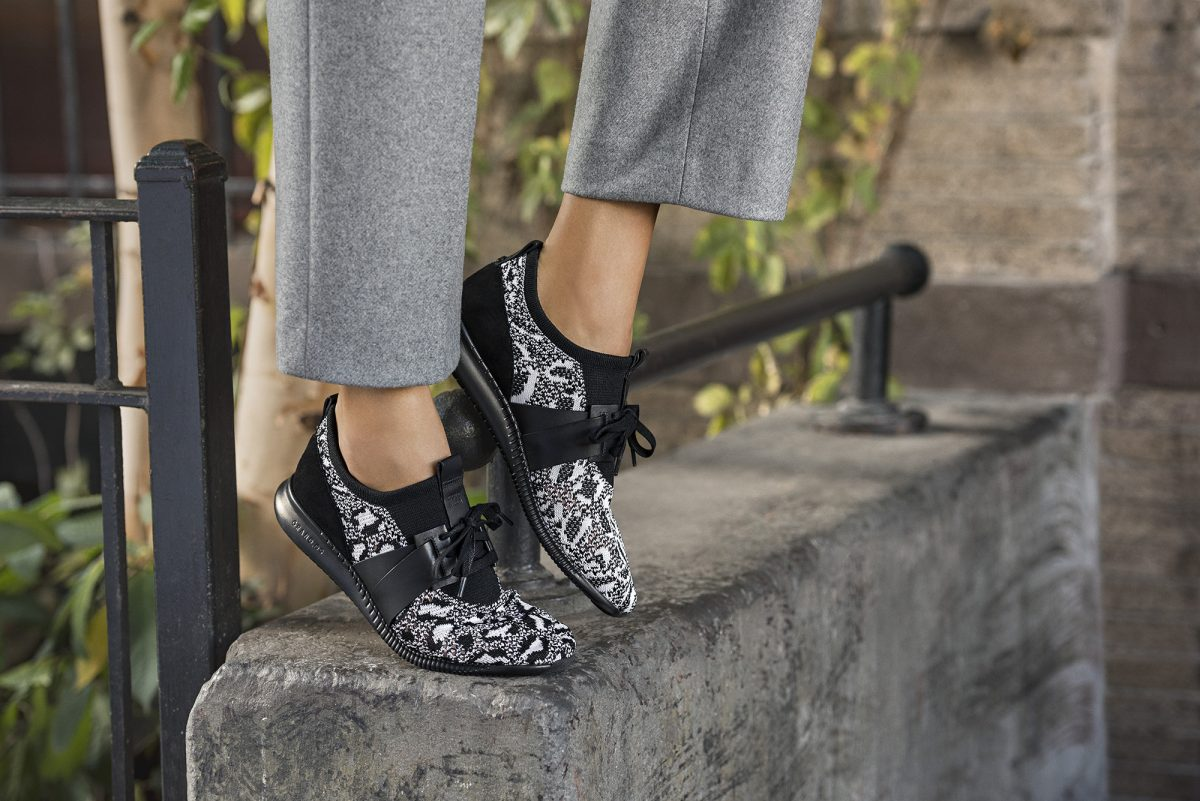Cole Haan_StudiøGrand Campaign_Knit Trainer in Black and White