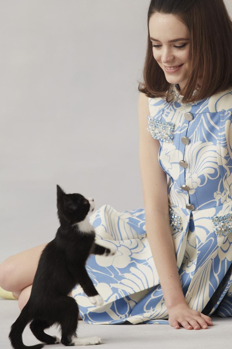 967fccab4e9 Actress Stacy Martin Talks Starring in Miu Miu s L Eau Bleue ...