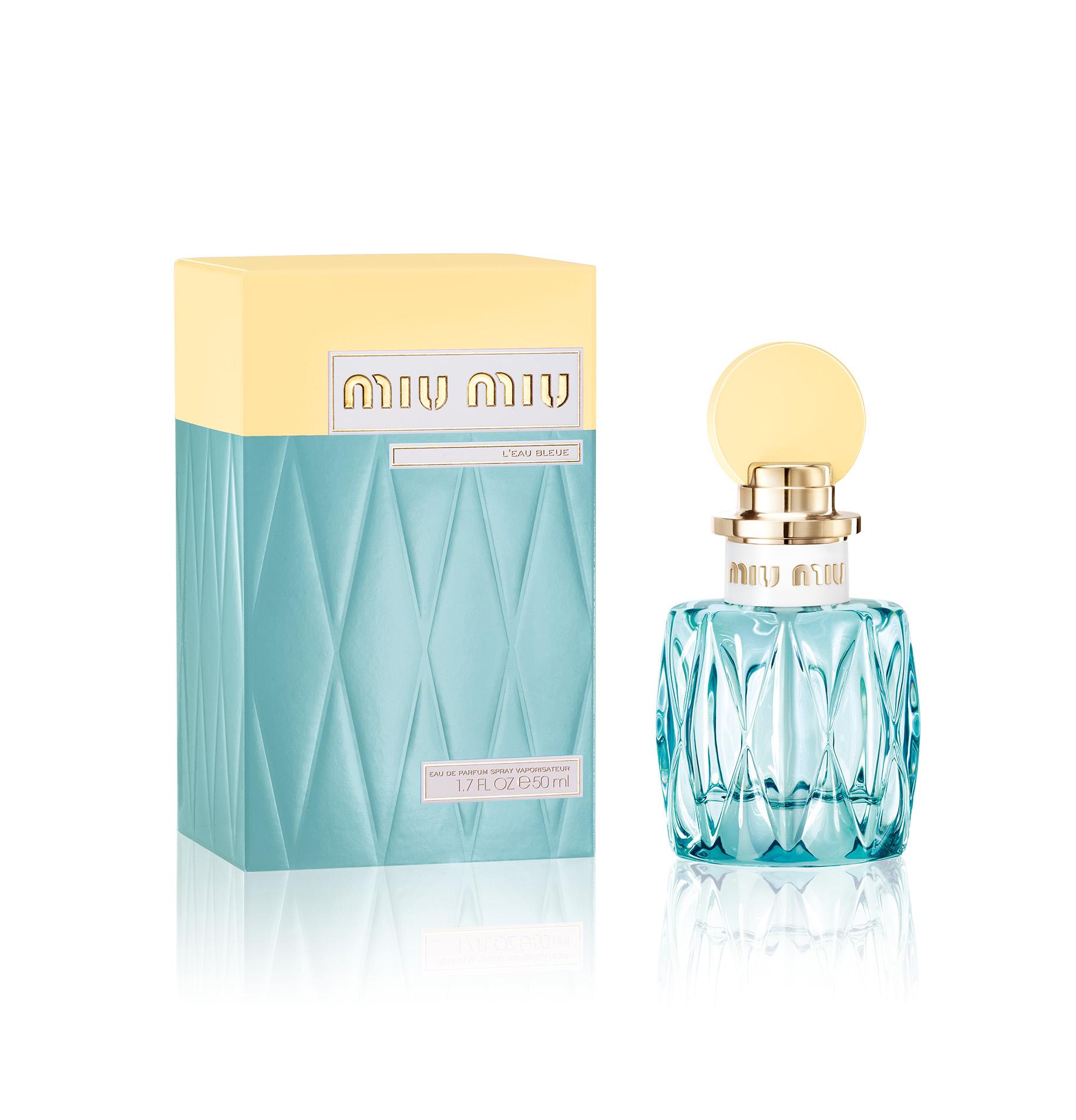 32eea0b71e4 Miu Miu L Eau Bleue eau de parfum will be available for  90 (1.7oz) at  Sephora in February.