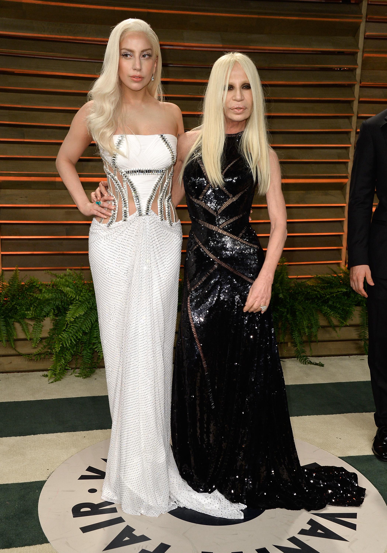 Donatella Versace Attends Super Bowl for Lady Gaga 7851e4a5f
