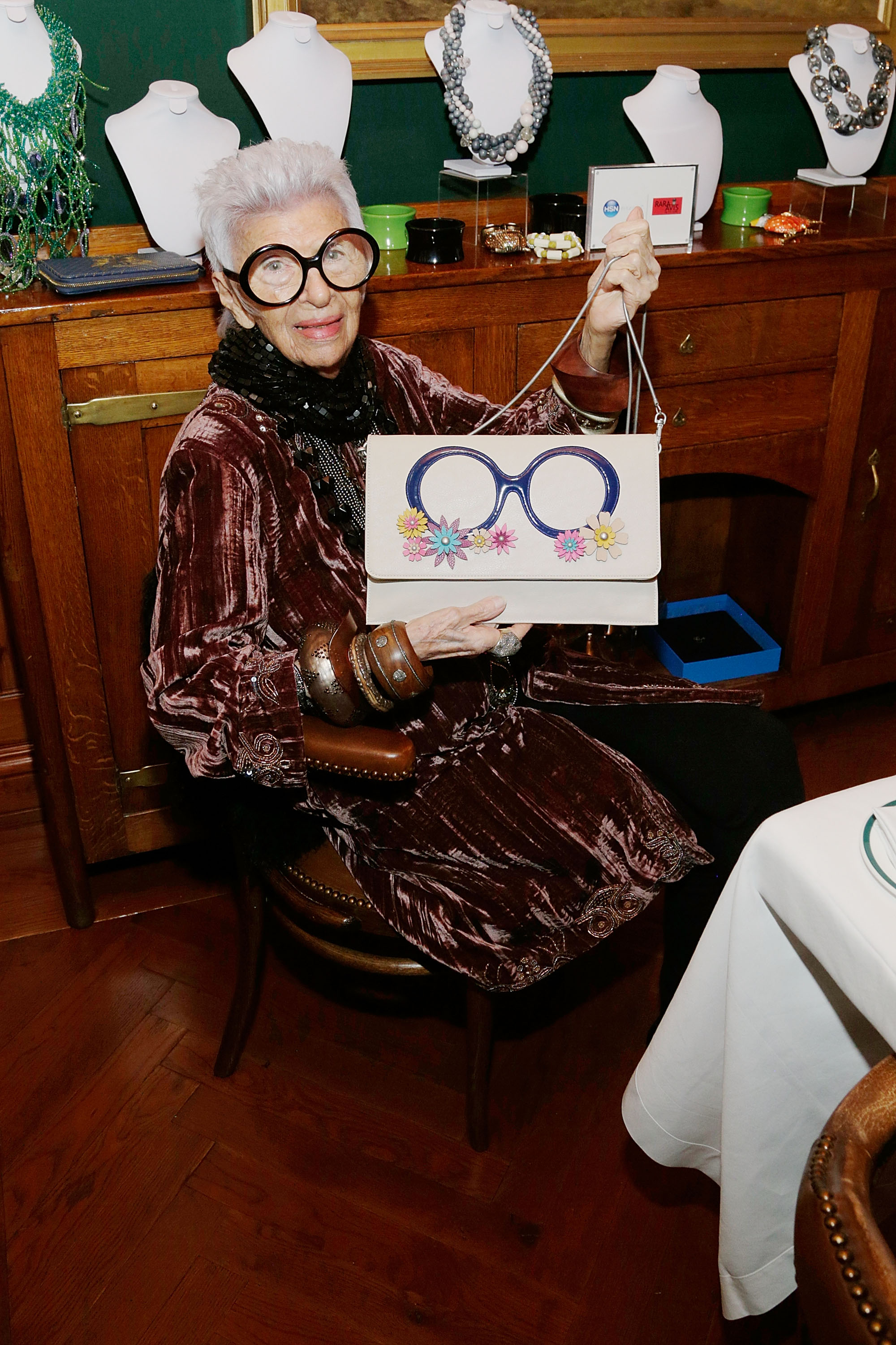 Iris Apfel Fetes HSN Spring Collection with Dinner at The