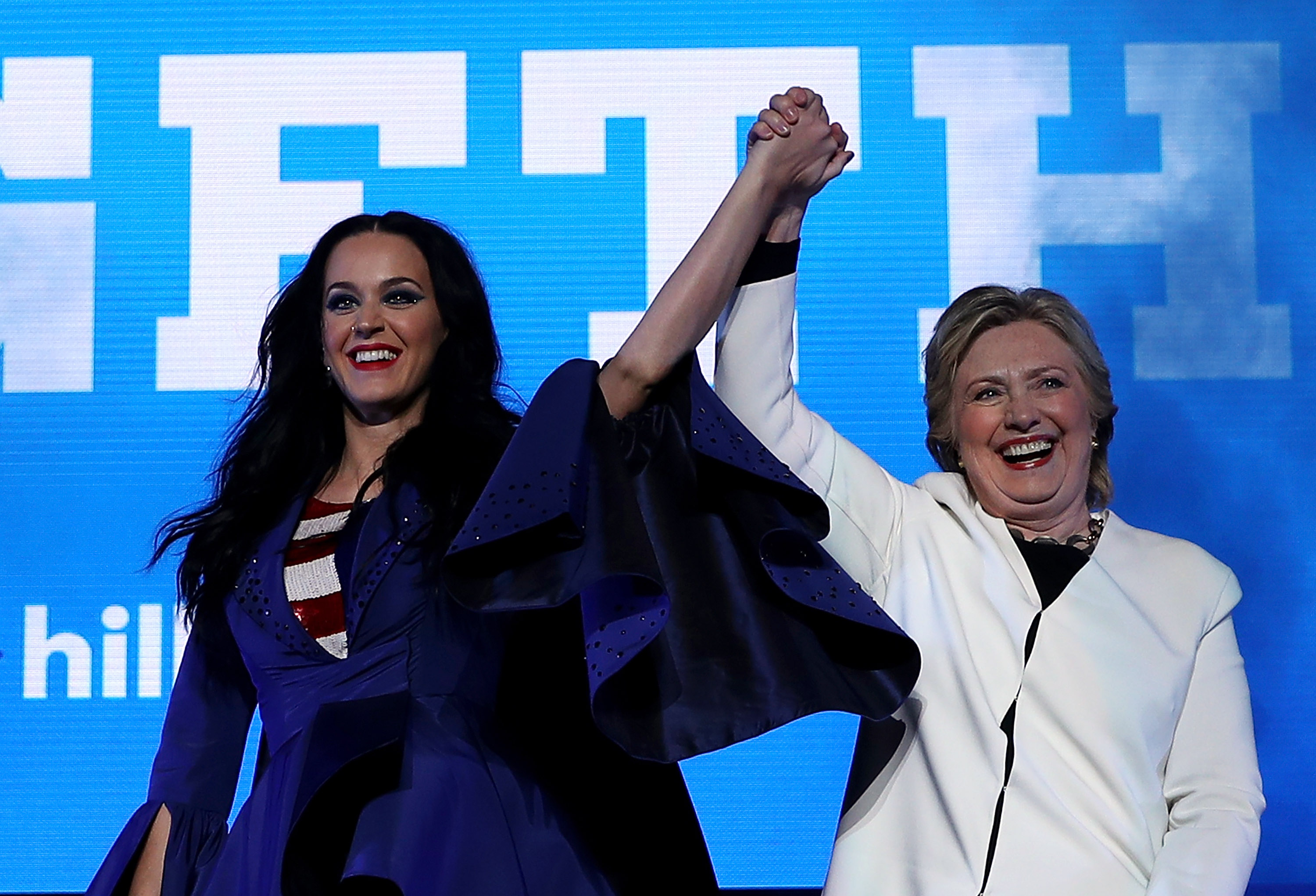 31c8ed52875 Katy Perry Names Pump After Hillary Clinton