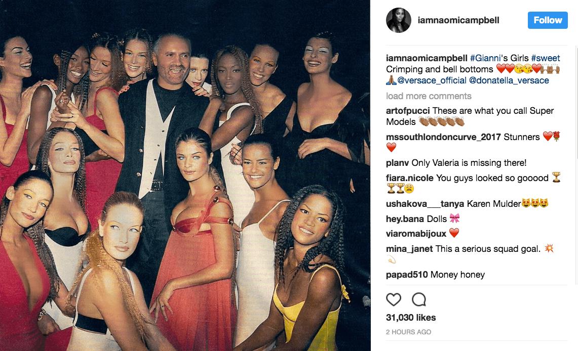 2ce664fae398 1141 x 694 fashionweekdaily.com. Naomi Campbell  39 s Tribute to Gianni  Versace